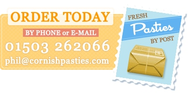 Order your Cornish Pasty today