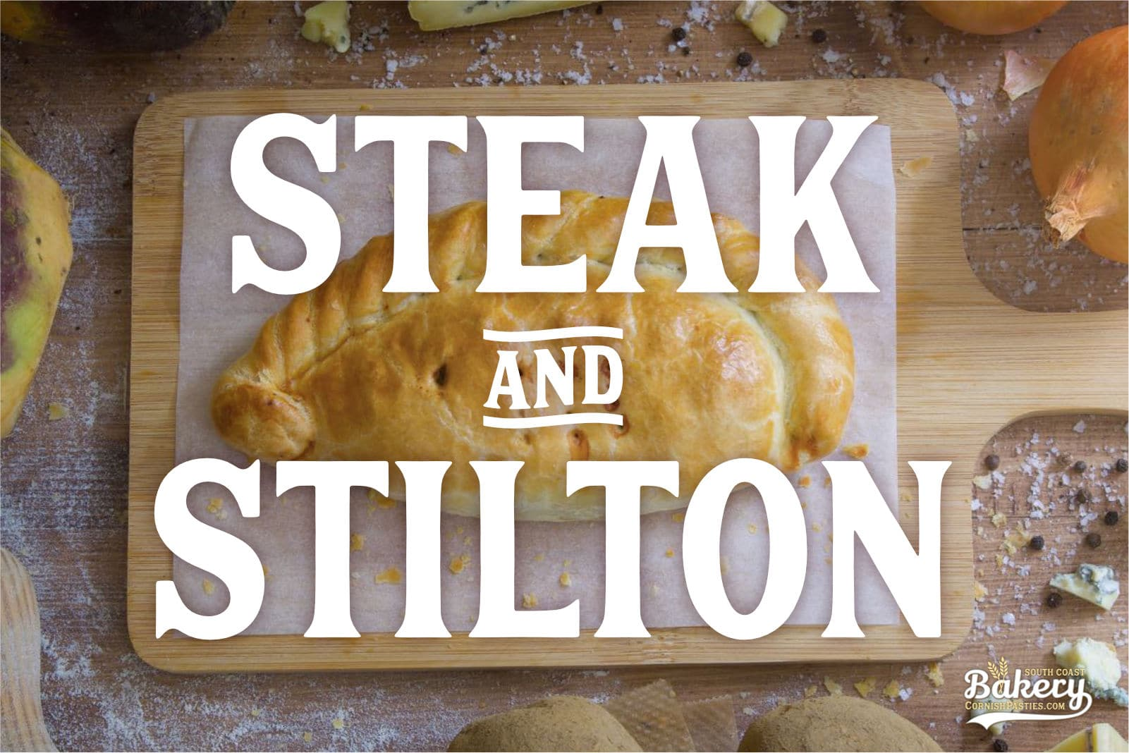 Steak and Stilton Pasty
