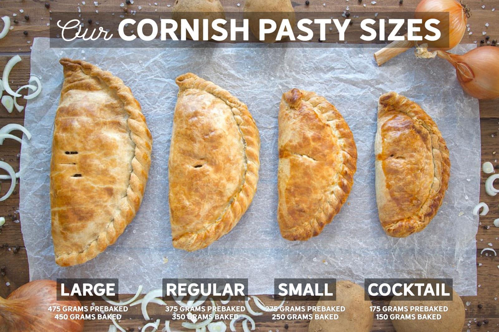 Cornish Pasty Sizes